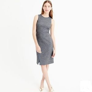 EUC J.Crew Herringbone Ribbon Slit Sheath Dress